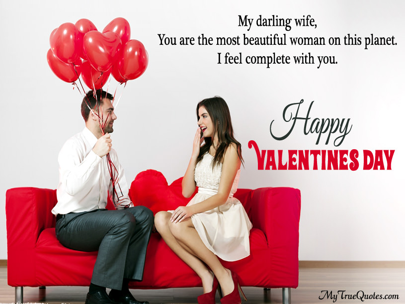 Happy Valentines Day Quotes For Wife With Greeting Image
