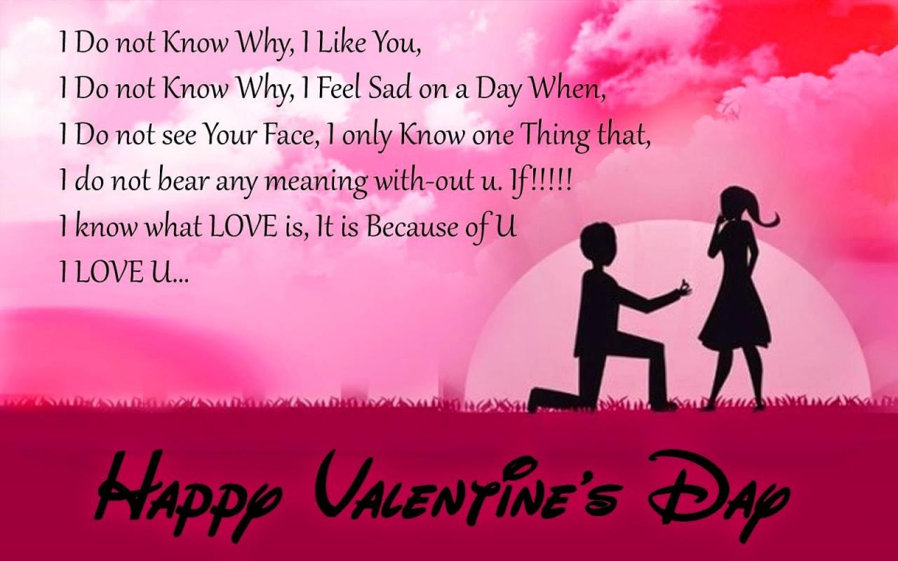 Beautiful Love Messege For Girlfriend Love Quotes On Valentines Day