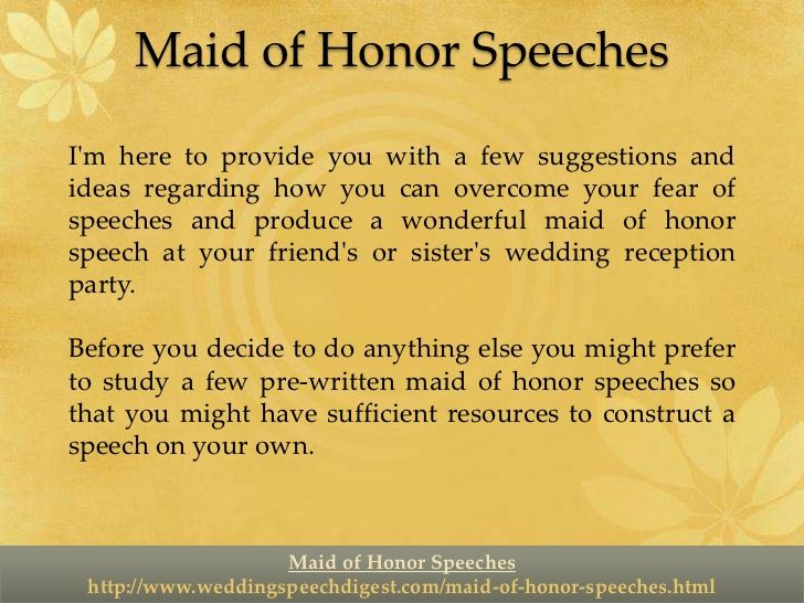 Maid Honor S Ches Sister Examples Maid Honor S Ches