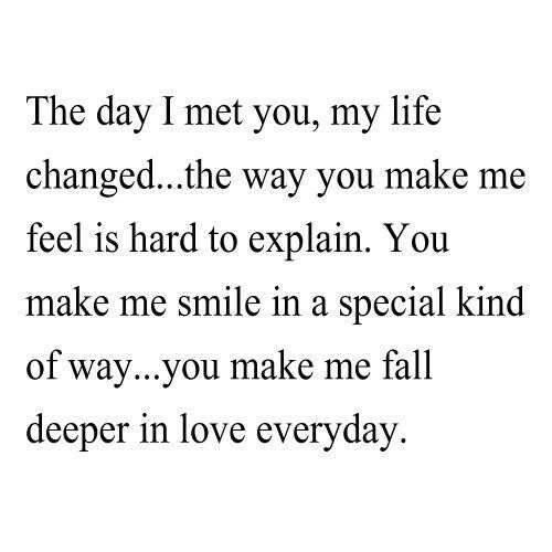 You Make Me Fall Deeper In Love Everyday