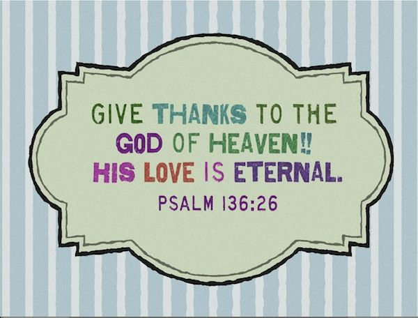 Bible Verses About Love Psalm Colorful Picture