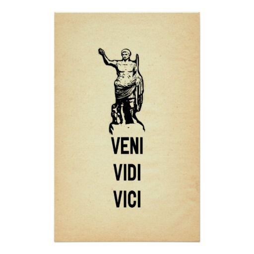 Veni Vidi Vici Julius Caesar Quote A Latin Phrase I Came I Saw