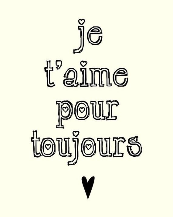 Items Similar To Ill Love You Forever In French X Art Print On Etsy