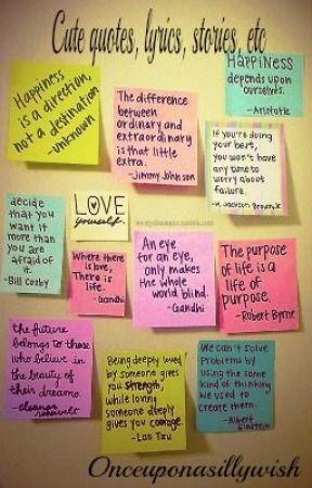 Cute Quotes Lyrics Stories Etc