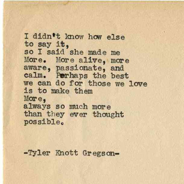 Tyler Knott Gregson Love Poems Quotes