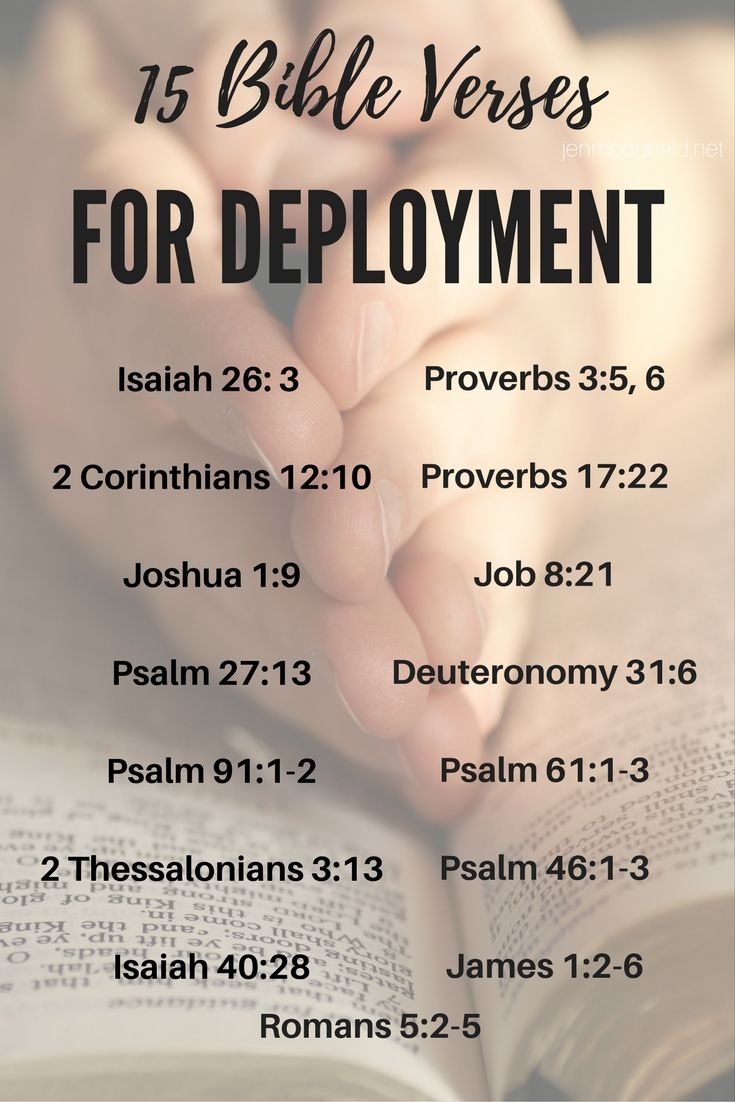 Bible Verses For Military Spouses Facing Deployment Or Separation