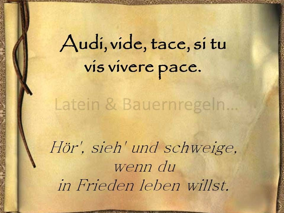Lateinische Sprichworter Recht Deutsche Zitate Leben
