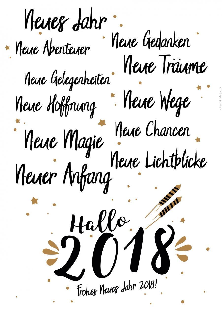 Alles Wird Neu Frohes Neues Jahr  Silvester Spruch Zum Ausdrucken Silvester