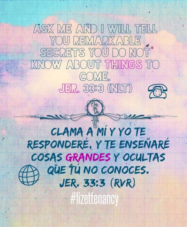Jer  Spanish And English Bible Verse