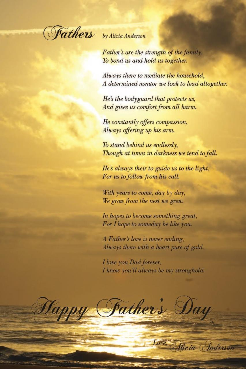 Christian Love Poems For My Dad Mothers And Fathers Day Poems