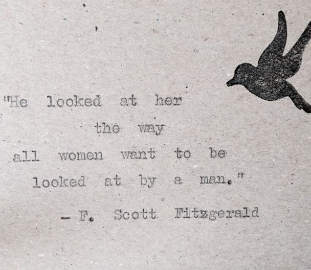 F Scott Fitzgerald Love Quote Cards X  Hand Typed On Vintage Typewriter By Bookishgifts On Etsy
