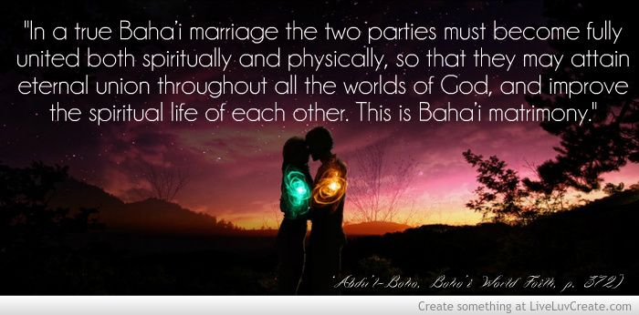 Bahai Marriage Quote Picture Created By Samareh Boag Image Tagged With Life Inspirational