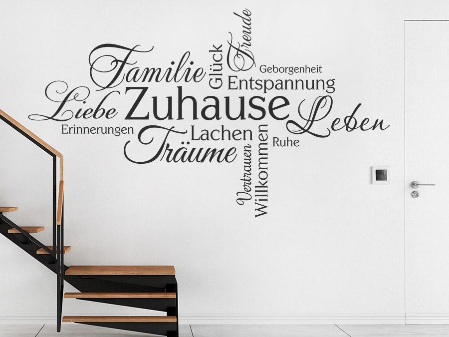 Wandtattoo Zuhause Schriften Wortwolke Wandtattoo De