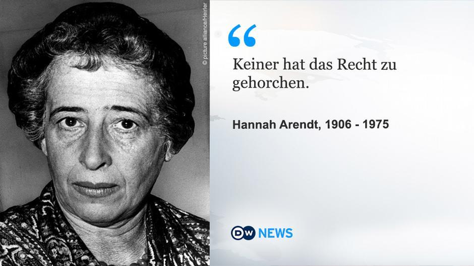 Was Uns Hannah Arendts Totalitarismus Theorie Uber Trump Verrat Bucher Dw