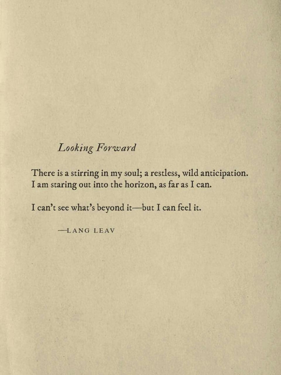 Looking Forward Langleav