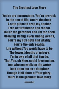 The Greatest Love Story Poem Christian Quote
