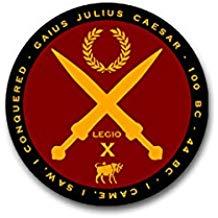 Aufkleber Sticker Gaius Julius Caesar Casar Rom Romer Romisches Reich Latein Zitat Veni Vidi