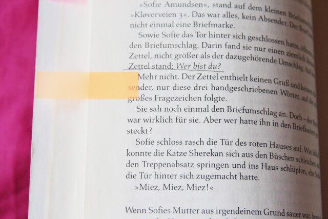 Sofies Welt Jostein Gaarder Buch Buchvorstellung Zitat Philosophie
