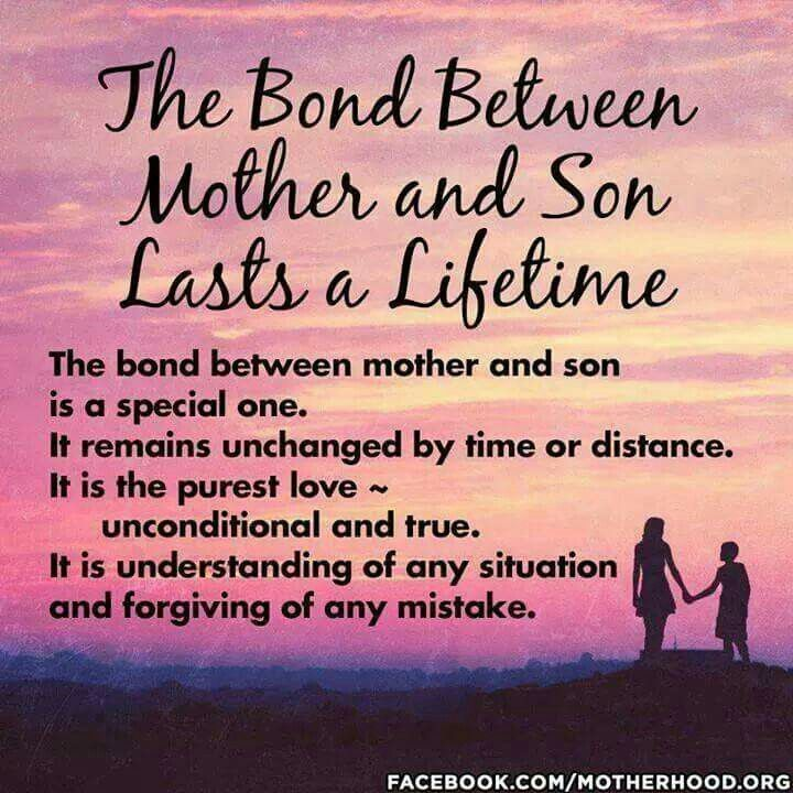 The Bond Between Mother And Son Quotes Quote Kids Mom Mother Family Quote Family Quotes Children Son Mother Quotes
