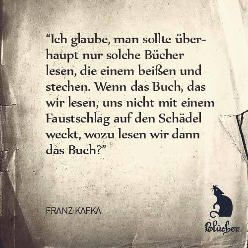 Kafka Zitat Bucher Literatur