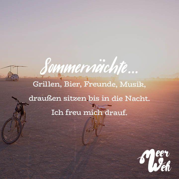 Visual Statements Sommernachte Grillen Bier Freunde Musik