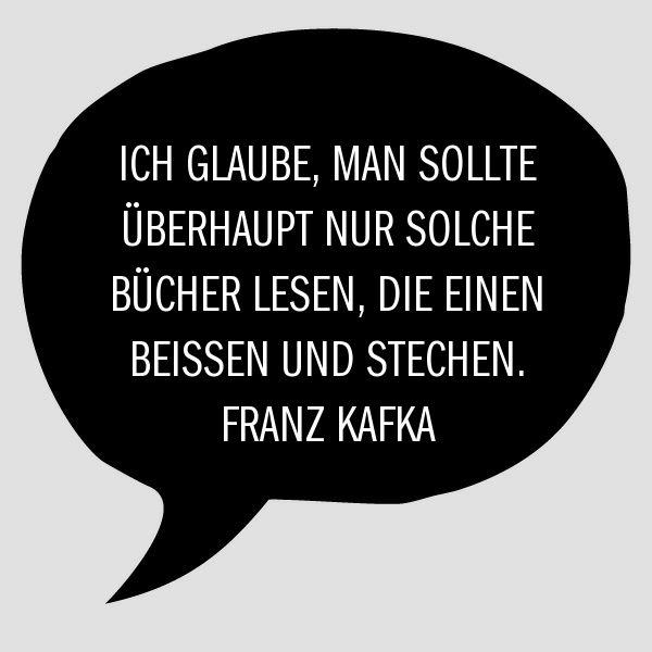 Bibliophiel Buchfreund Kafka Zitat