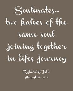 Soulmates Two Halves Of The Same Soul Joining Together In Lifes Journey