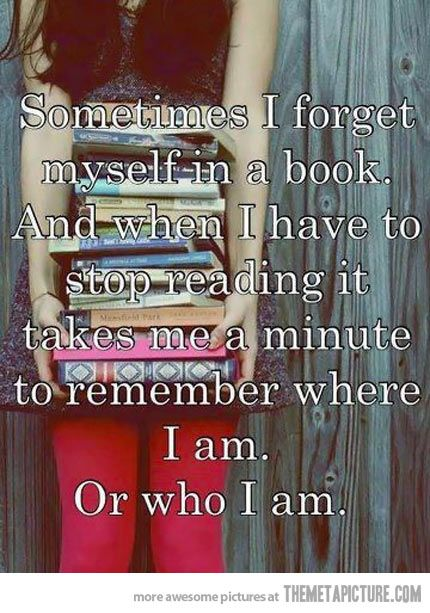 Forgetting Yourself In A Book