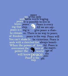 A Celeste Yin And Yang Peace Message
