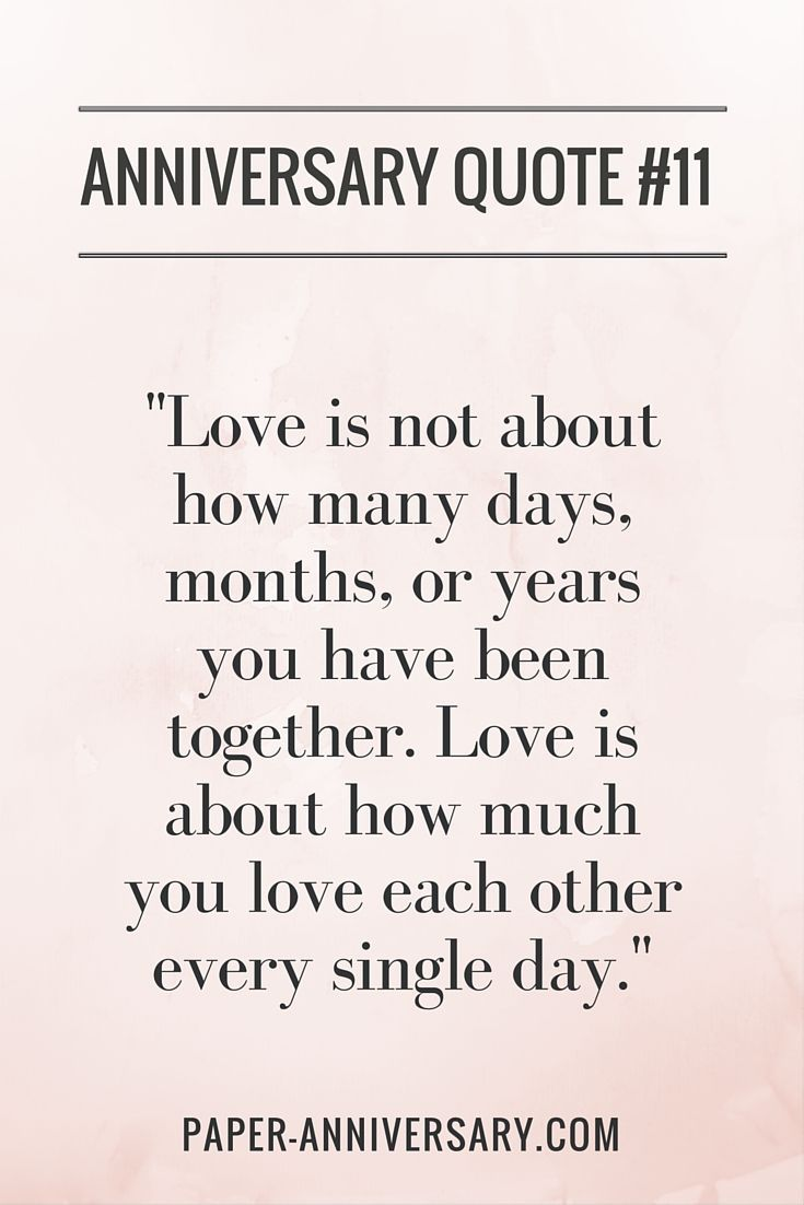 Love This Anniversary Quote Love Is Not About How Many Days Months Or Years You Have Been Together Love Is About How Much You Love Each Other Every