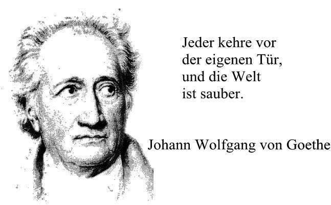 Johann Wolfgang Von Goethe Jeder Kehre Vor Seiner Haustur