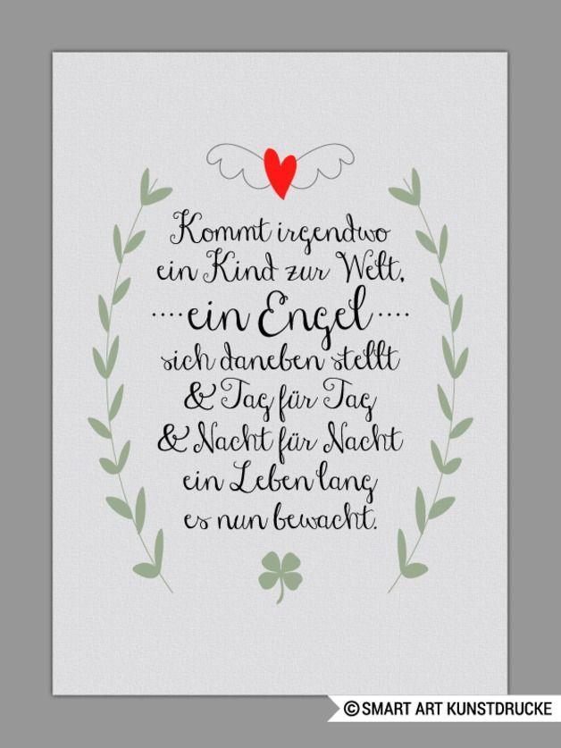 Schutzengel Kunstdruck Geschenk Taufe Geburt Schutzengel Kunstdruck Und Dawanda