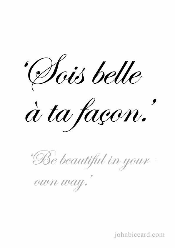 Be Beautiful In Your Own Way