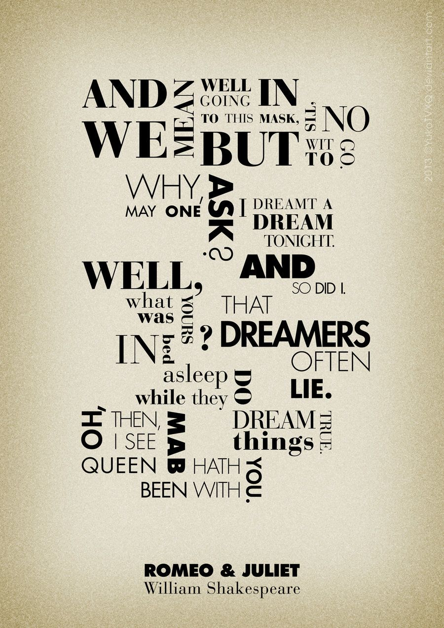Romeo And Juliet Quotes Poster