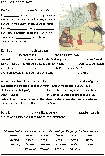 Zeitformen Von Verben Verben In Der Vergangenheit Deutsch  Klasse Pinterest