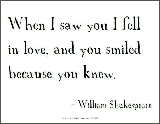 Shakespeare William Shakespeareshakespeare Love Quotesa