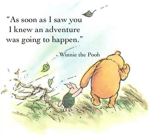 As Soon As I Saw You I Knew A Grand Adventure Was About To Happen Winnie The Pooh