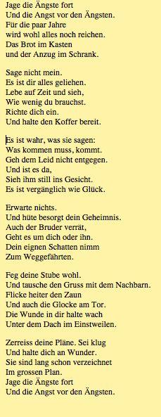 Mascha Kaleko Gedicht Rezept