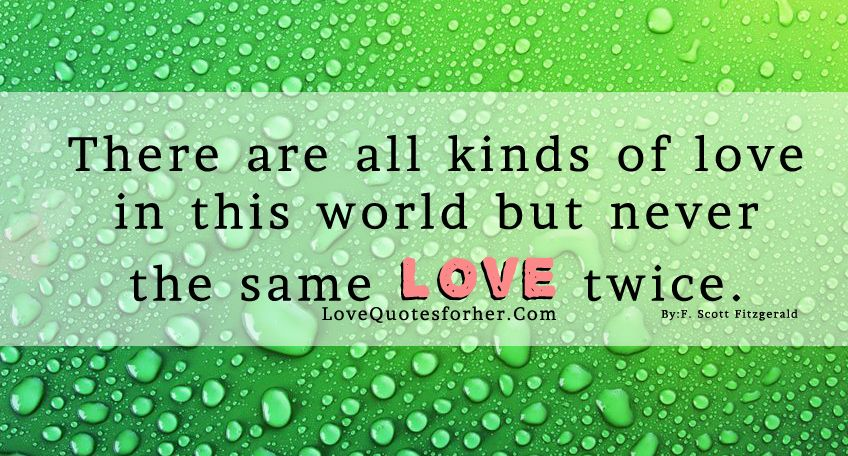 Types Of Love With Quotes Sayings