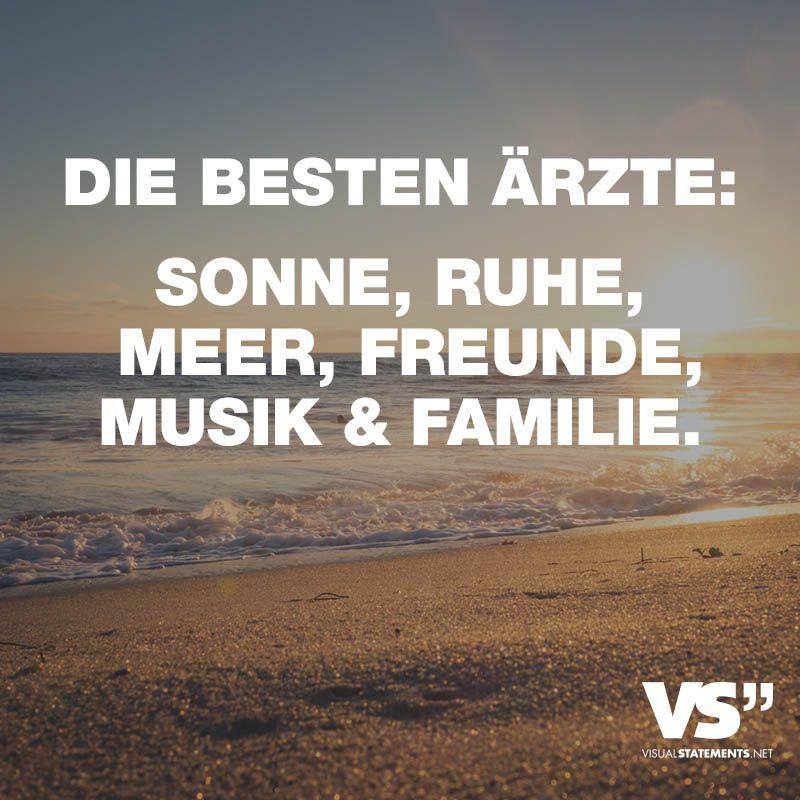 Besten Arzte Sonne Ruhe Meer Freunde Musik Familie Visual Statements