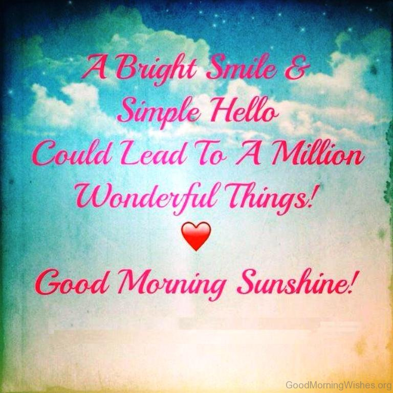 A Bright Smile Simpleo A Bright Smile Simpleo Good Morning Sunshine
