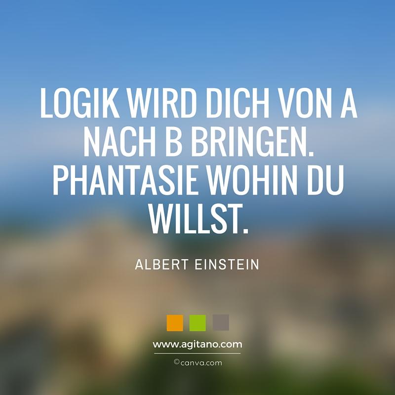 Zitat Albert Einstein Logik Phantasie Leben Ziele Intelligenz