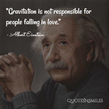Albert Einstein Picture Quote Love