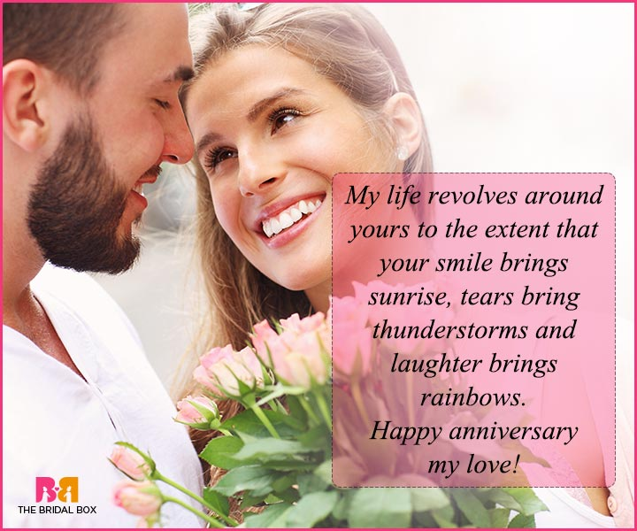 Love Quotes For Husband On Anniversary My Life Revolves Around You