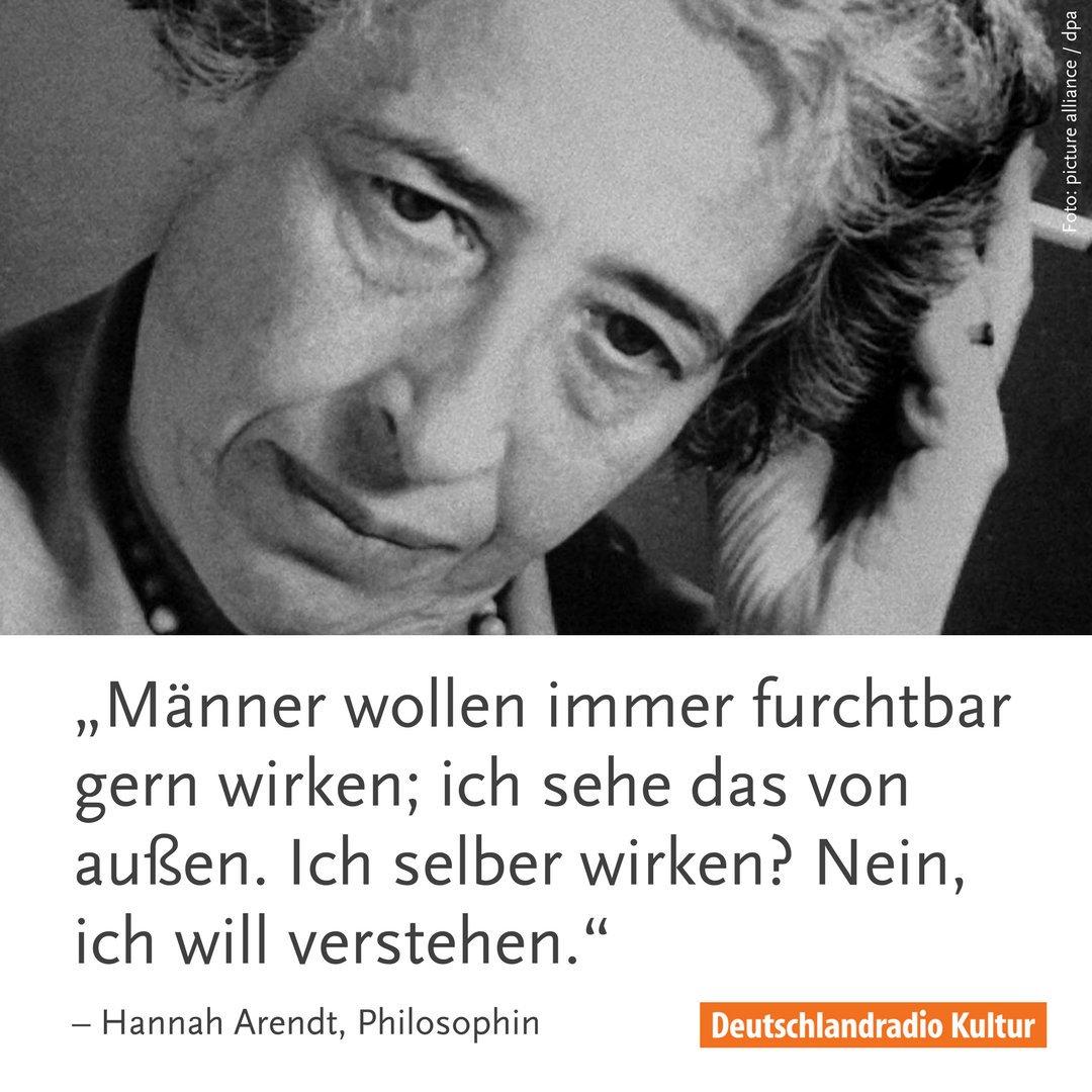 Werke Und Zitate Von Hannah Arendt Sind Wieder In Aller Munde