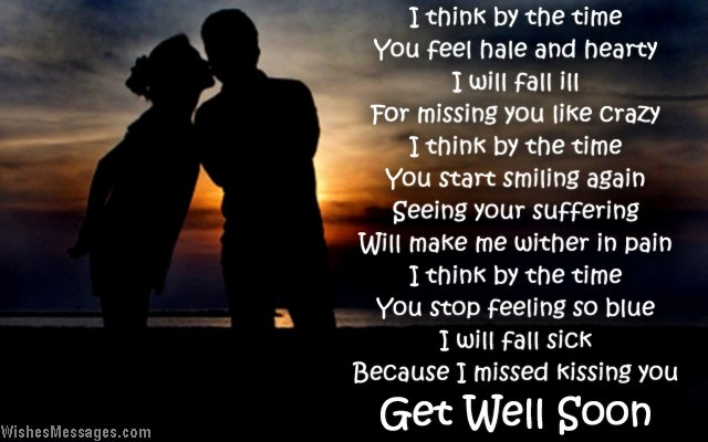 Cute Get Well Soon Card Wishes For Girlfriend