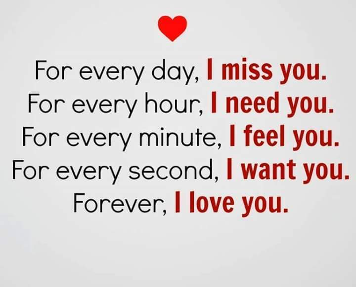 Forever I Love You Every Day Never I Miss You Short Quotes About Love
