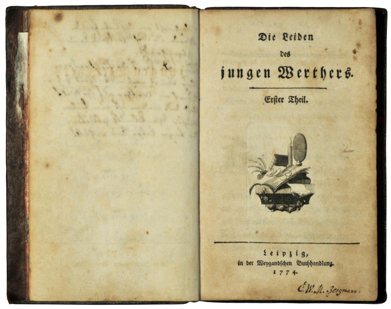 Erstdruck Des Werthers Von Johann Wolfgang Von Goethe