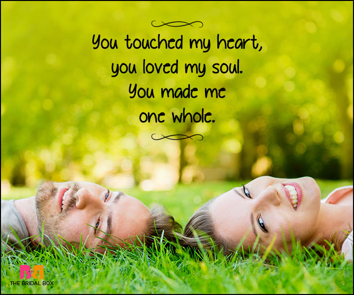Heart Touching Love Quotes You Touched My Heart