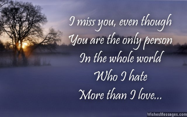 Heartbreaking I Miss You Message To Ex Husband From Wife